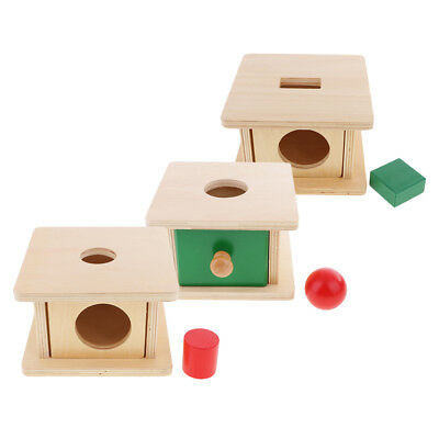 Montessori Material Toys Kids Baby Training Learn Target Putting Stand Box