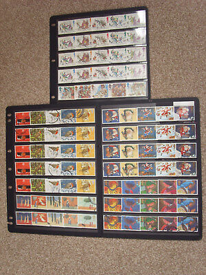 LOT#347q GB QEII CHRISTMAS ISSUE STAMPS (Multiple Listing) ISSUED 1993-1998 USED