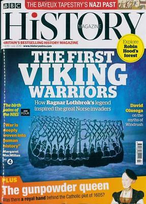 Bbc History Magazine July 2018 ~ Viking Warriors ~ Robin Hoods Forest ~ New ~