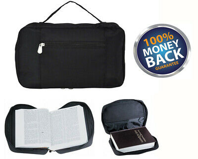 ImpecGear Bible Cover in Black Protective Cover Case For Pastor Preacher Father