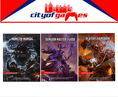 D&D Dungeons & Dragons Monster Manual Masters Guide & Player's Handbook Bundle