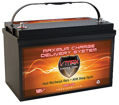 VMAX XTR31-135 for MANITOU Pontoon w/group 31 AGM 12V marine deep cycle battery