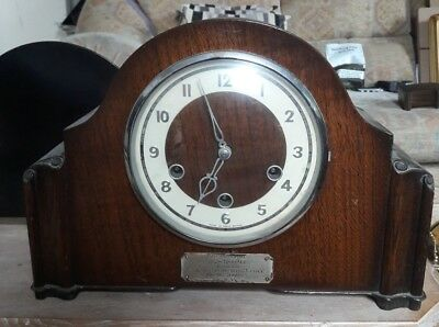 Vintage Smiths Westminster Chime Mantle Clock.great Working Order.