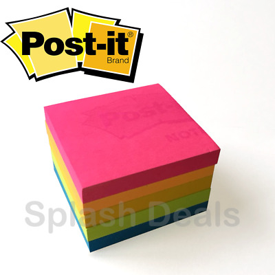 Neon Post it® Notes, Cape Town Colours, Removable Sticky Paper Pad 76mm x 76mm