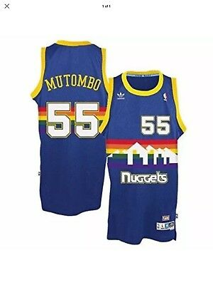 39afb14caaad sale denver nuggets dikembe mutombo no.55 rainbow throwback jersey 16a56  bf265