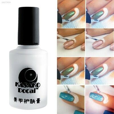 Fashion 15ml White Peel Off Liquid Tape Base Cream Nail Polish Palisade 45F9