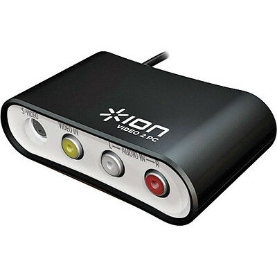 Ion Video to MP3 Converter for Mac Or PC USB RCA or SVideo Cable NEW OPEN BOX
