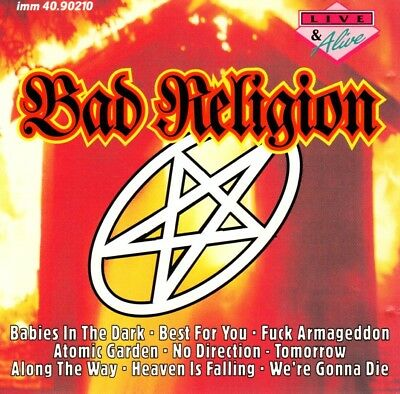Bad Religion - Live & Alive Cd (Live 1993) Imtrat Records, 27 Songs, Rare & Oop