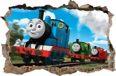 TRAIN THOMAS WALL STICKERS HOLE IN THE WALL 3D decorative sticker to the room 75