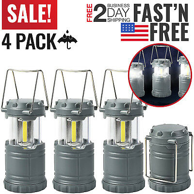 Led Camping Lantern Tent Lights Battery Operated Powered Lamp Outdoor Portable