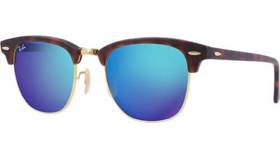 0f4969acacd9d ... polarized 7aaf0 74d60  shopping ray ban clubmaster rb3016 1145 17 matte  tortoise blue mirror sunglasses 49mm 1d353 f1cfa