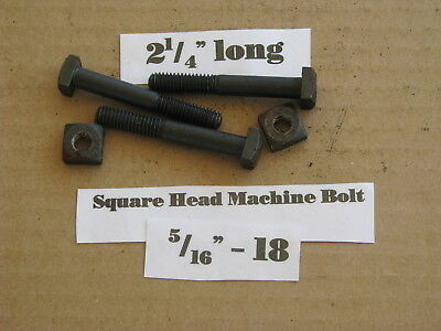 """Antique 5/16"""" -18 X 2 1/4"""" Square Head Bolts NOS LOT of 20"""