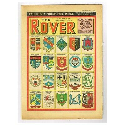 The Rover Comic June 6 1956 MBox1296  No.1615 School Badges in colour