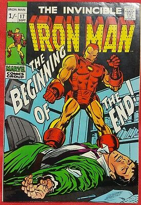 IRONMAN 17 MARVEL SILVER AGE 1969 1st appearance of Madame Masque