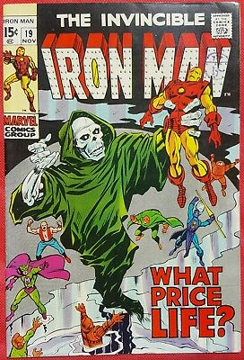 IRONMAN 19 MARVEL SILVER AGE 1969 Captain America appearance