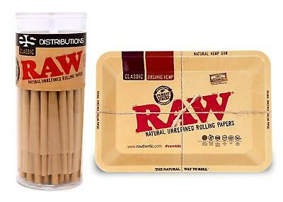 RAW Classic 98 Special Cones (50) and RAW Mini Metal Tray