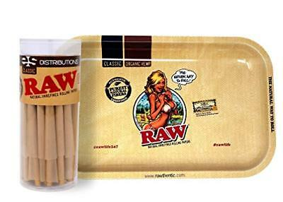 RAW Classic King Size Cones (50 Pack) with RAW Girl Small Tray