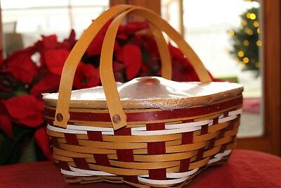 Longaberger 2017 Holiday Host Snow Drift Basket Set LAST in Series NEW In Hand