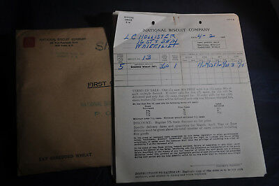 1940 NABISCO Order Forms for SHREDDED WHEAT - Albany Area NY