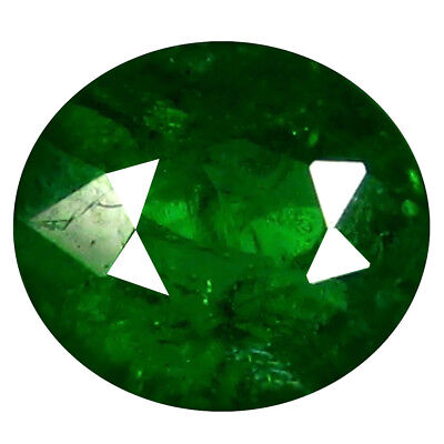 0.81 Ct Eye-Popping Coupe Ovale (6 X 5 Mm) Russe Tsavorite Grenade Libre