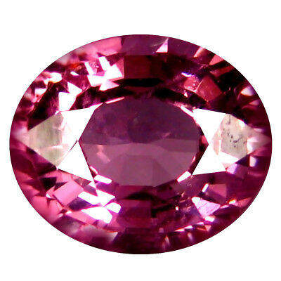 1.38 Ct AAA+ Spectaculaire Forme Ovale (7 X 6 Mm) Rosé Rouge Grenade Rhodolite