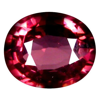 1.05 Ct AAA+ Fabuleux Forme Ovale (7 X 6 Mm) Rosé Rouge Grenade Rhodolite