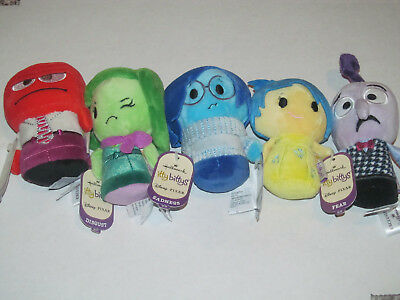Itty Bittys Hallmark Inside Out Movie 5Pc Set Joy Anger Fear Disgust Sadness Nwt