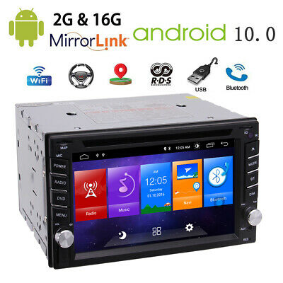 "6.2"" Android 9.0 OS 4G WiFi Double 2 DIN Car Radio Stereo DVD Player GPS+Camera"