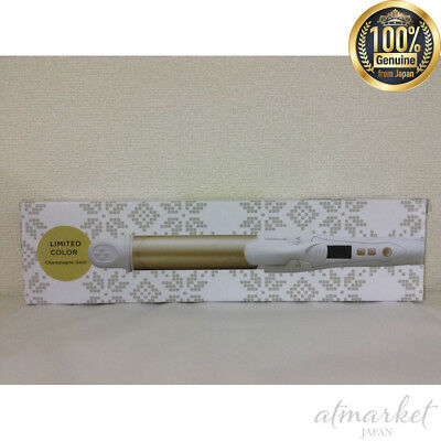 NEW SALONIA 2 WAY straight curl hair iron 32 mm professional 220 ° gold SL-002A