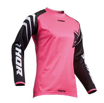 Thor MX Motocross Women's Sector Jersey (ZONES Black/Pink) Choose Size