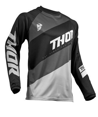 Thor MX Motocross Men's Sector Jersey (SHEAR Black/Gray) Choose Size