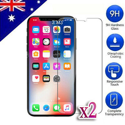 2X Tempered Glass LCD Screen Protector for Apple iPhone 8 7 Plus 6 SE 5 S X d6