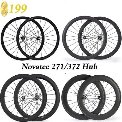 Carbon Wheels Novatec 271 372 Hub Standard Wheels 38 50 88mm Clincher Bike Wheel