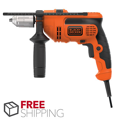 BLACK+DECKER DR670 6.0 Amp 1/2-Inch Corded VSR Hammer Drill Heavy Duty Durable