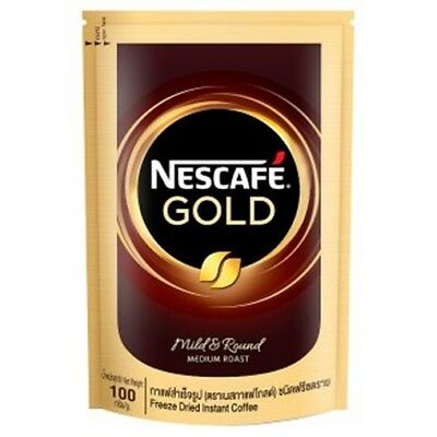 Nescafe Gold Instant Coffee Freeze Dried Medium Roast 100g