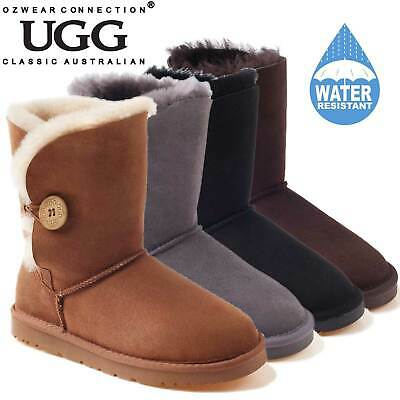 f9e8b6599d9 Ozwear Ugg Ob013Ii Water Resistants Chestnut Color Classic Short Button Ugg  Boot