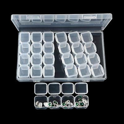 28 Slots Diamond Painting Acceories Jewelry Storage Box Embroidery Case Q
