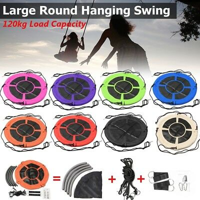 "40""/ 100cm Diameter Tree Swing Large Round Seat Kids Children Outdoor Yard Play"