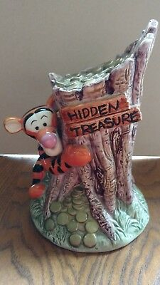 "Disney Winnie The Pooh Tigger ""hidden Treasure"" Ceramic Coin Money Bank"