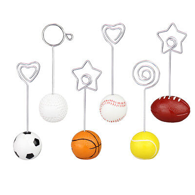 Lot 10pcs Sport Ball Base Craft Wire Photo Clips,Memo Card Holder,Hobby Collect