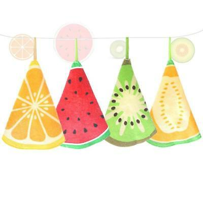 Fruit Print chen Hand Towel Microfiber Towels Cleaning Rag Dish Cloth Q
