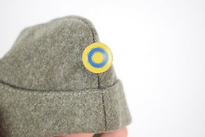 Swedish Wool Garrison Cap / Hat - Military Army With Pin Vintage Size 57