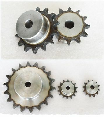 "#25 Chain Drive Sprocket 9T-80T Pitch 1/4"" 6.35mm For #25 04C Roller Chain"