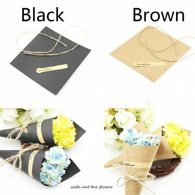 10Pcs Kraft Paper Cones Bouquet Candy Boxes Gift Boxes Wedding Party Gifts