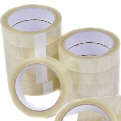 "2 Rolls Clear Packing Tape Cellotape Sellotape 24Mm 1"" X 66M"