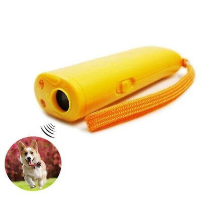 Ultrasonic Anti Stop Barking Puppy Train Repeller Control Trainer Device Yellow