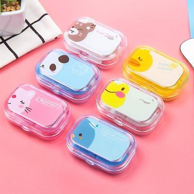 Cute Mini Travel Contact Lens Case Box Container Holder Eye Care Kit w/ Mirror a