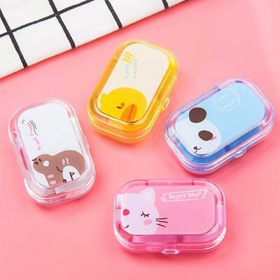 Cute Mini Travel Contact Lens Case Box Container Holder Eye Care Kit w/ Mirror q
