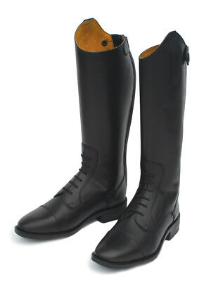 Rhinegold Junior Childrens Berlin Long Leather Horse Riding Boot Black £57.95