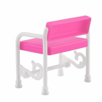 Dressing Table & Chair Accessories Set For Barbies Dolls Bedroom Furniture R2N9